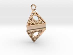 Customizable Keychain/Pendant in 14k Rose Gold Plated Brass