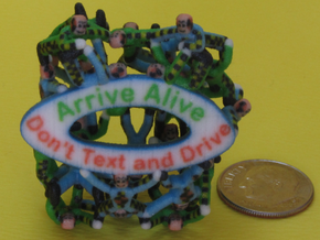 Don't Text and Drive Mashup in Full Color Sandstone