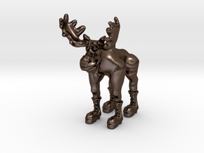 Bronze Moose in Polished Bronze Steel
