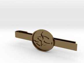 Agent 47 tie clip in Polished Bronze
