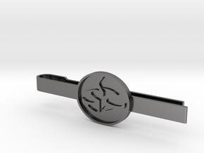 Agent 47 tie clip in Polished Nickel Steel