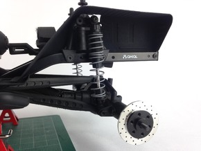 AD10004 Inner Fenders REAR (SCX10) in Black Strong & Flexible