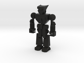 Robo Keychain in Black Natural Versatile Plastic