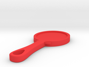 Hand Mirror Charm in Red Processed Versatile Plastic