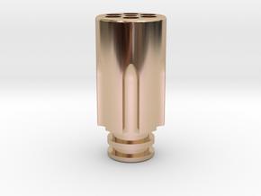 Revolver Chamber Driptip in 14k Rose Gold Plated Brass