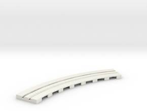 P-65stp-curve-tram-long-145r-75-pl-1a in White Natural Versatile Plastic
