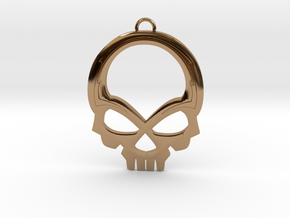 Skull Pendant in Polished Brass
