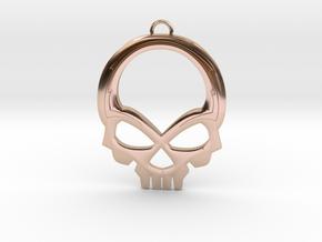 Skull Pendant in 14k Rose Gold Plated Brass