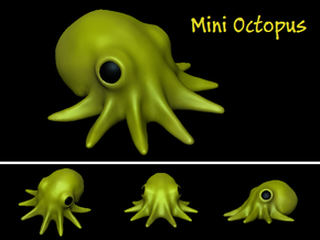 Mini Octopus in White Strong & Flexible