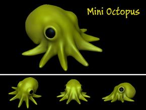 Mini Octopus in White Natural Versatile Plastic