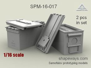 1/16 SPM-16-017 cal.50 ammobox opened in Smoothest Fine Detail Plastic
