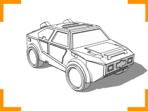 """""""Masterson"""" Utility Vehicle 6mm in White Strong & Flexible"""
