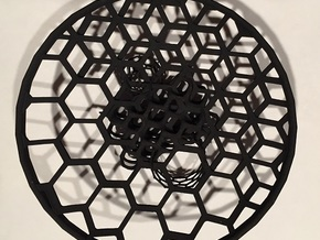 5 Allotrope Bowl in Black Natural Versatile Plastic