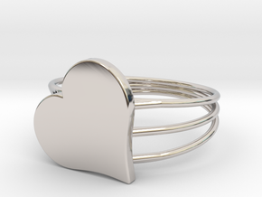 Size 6 Heart For ALL in Platinum