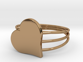 Size 7 Heart For ALL in Polished Brass