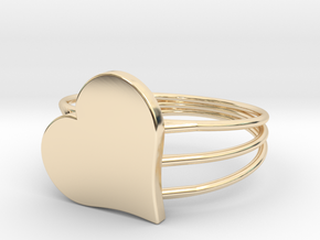 Size 7 Heart For ALL in 14K Yellow Gold