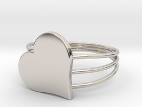 Size 7 Heart For ALL in Platinum