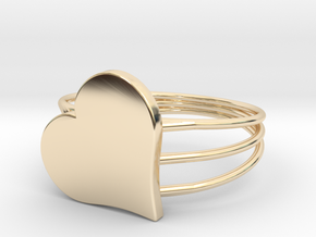 Size 8 Heart For ALL in 14K Yellow Gold