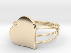 Size 9 Heart For ALL in 14K Yellow Gold