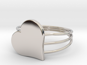 Size 9 Heart For ALL in Platinum