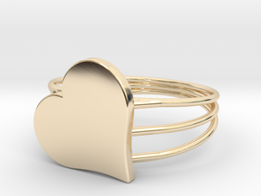 Size 11 Heart For ALL in 14k Gold Plated Brass