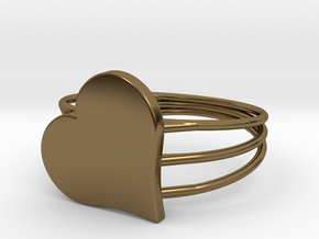 Size 11 Heart For ALL in Polished Bronze