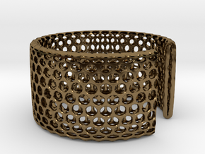 Geotombik Bracelet / Cuff in Polished Bronze