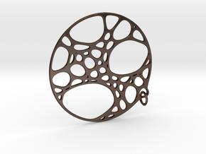 Cellular Pendant 25mm in Polished Bronze Steel