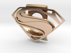 Superman Money Clip in 14k Rose Gold Plated Brass