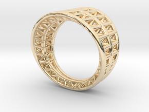 Framework Ring in 14k Gold Plated Brass