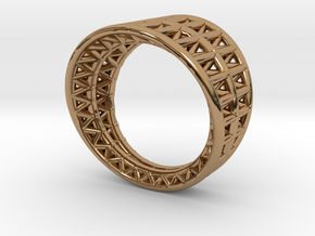 Framework Ring in Polished Brass