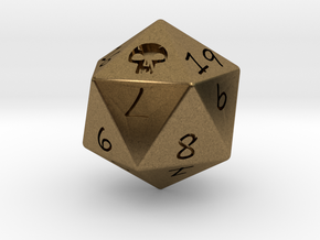 D20 Swamp in Natural Bronze: Medium