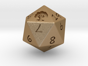 D20 Forest in Matte Gold Steel: Medium