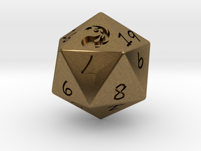 D20 Mountain in Natural Bronze: Medium