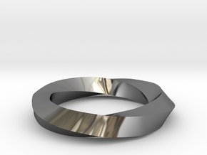 RingSwirl270 in Premium Silver