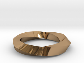 RingSwirl270 in Polished Brass