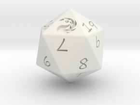 D20 Mountain in White Natural Versatile Plastic: Medium