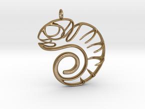 Chameleon in Polished Gold Steel