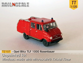 Opel Blitz TLF 1000 (TT 1:120) in Smooth Fine Detail Plastic