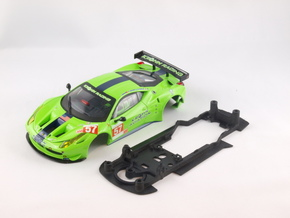 S08-ST2 Ferrari 458 GT2 Chassis STD/STD in Black Strong & Flexible