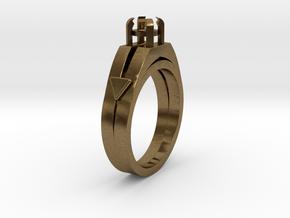 Ø16.51 Mm Diamond Ring Ø4.4 Mm Round Fit in Natural Bronze