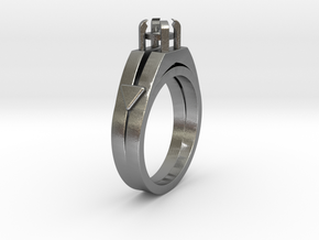 Ø16.51 Mm Diamond Ring Ø4.4 Mm Round Fit in Natural Silver