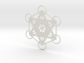 Metatrons cube custom  in White Natural Versatile Plastic