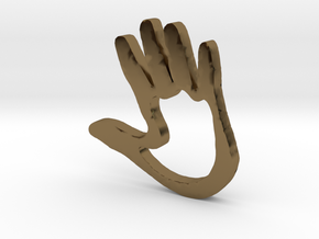 High5 in Polished Bronze