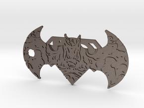 Super-Bat Keychain in Polished Bronzed Silver Steel