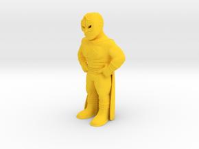 Mexican Wrestler #4: Mascarita Sagrada in Yellow Processed Versatile Plastic