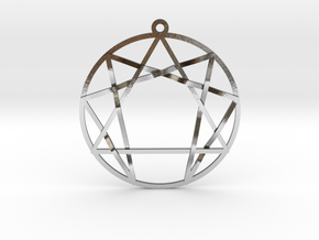 Enneagram in Polished Silver