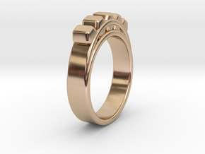 Ø18.19 mm Ring Ø0.716 inch in 14k Rose Gold Plated Brass