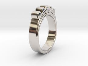 Ø18.19 mm Ring Ø0.716 inch in Rhodium Plated Brass