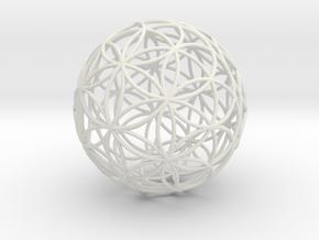 3D 200mm Orb of life (3D Flower of Life)  in White Natural Versatile Plastic